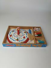 Melissa & Doug Wooden Birthday Party Cake Play Food Wood Playset
