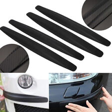 4pcs Universal Black Carbon Fiber Car Bumper Anti-Scratch Corner Protector Guard