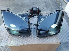 94-98 MITSUBISHI 3000GT DODGE STEALTH HEADLIGHTS GLASS REAL CARBON FIBER VR4 TT