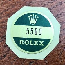 ROLEX  5500 Aufkleber / Sticker / Bollino für Gehäusedeckel oder Garantieurkunde