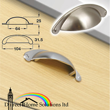Hafele Knightsbridge Cup Pull Handle Stainless Steel Kitchen Cabinet Drawer Knob