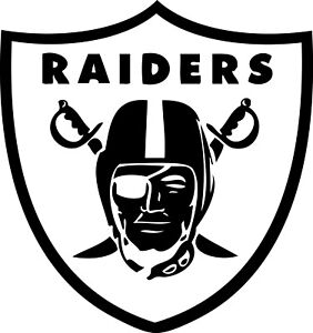 """Los Angeles Raiders NFL Decal """"Sticker"""" for Car or Truck or Laptop"""