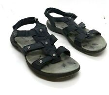 Merrell  Womens Size 6 Navy Leather Strappy Slingback Sandals Light Use
