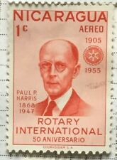 Nicaragua stamps - Rotary International Fdr. Paul P. Harris 1 Nicarag. cent 1955