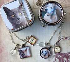 2 Pet Memory Pendant and Cremation Urn Necklaces, Loss of Dog or Cat Necklace