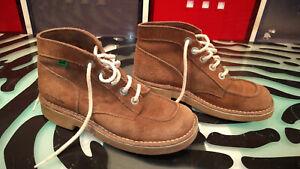 Kickers Womens Desert Boots Brown Sude Decent Condition Vintage Size 40