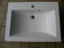 Vasque Lavabo en marbre de synthèse pour meuble de salle de bains