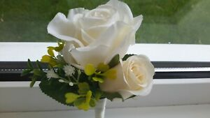 A Romantic, Rose,  Wedding Corsage ( 2 available)