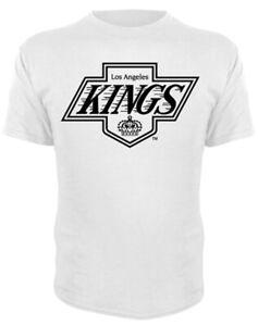Los Angeles KINGS WHITE HOT CHEVY LOGO SHORT SLEEVE Shirt Men's Medium Hockey LA