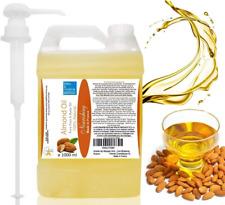 Huile de Massage Pure Végétale d'Amande Douce 1 LITRE 1000 ml ● Apaisante et