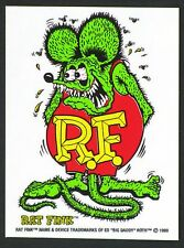 Green Rat Fink STICKER Decal Ed Big Daddy Roth RF17 Regular Version