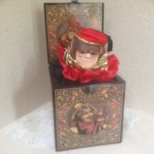 Vintage Enesco Limited Edition Musical Jack In The Box Peppino By Faith Wick