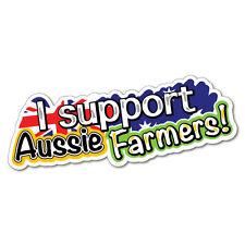 Support Farmers Sticker Aussie Car Flag 4x4 Funny Ute