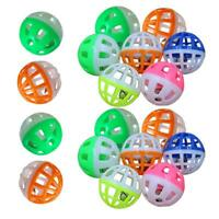 #QZO 18Pcs Pet Cat Kitten Play Balls With Jingle Bell Pounce Chase Rattle Toy