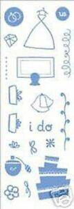 "NEW KI Memories 19 Acrylic Stamps- ""Just Married"" - Wedding"
