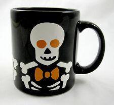 Waechtersbach Halloween Black Coffee Mug Skeleton Skull Spooky Scary