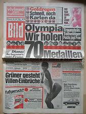 Bild Zeitung vom Mittwoch den 18.7.1984, Elton John, Olympia