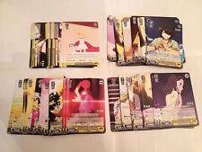 Weiss Schwarz Nisemonogatari Booster Pack playset x4 320 card all the rares