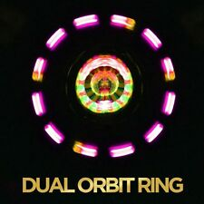 4 LED GloFX Dual Ring Orbit - Double Spinning rave orbital light show flow prop