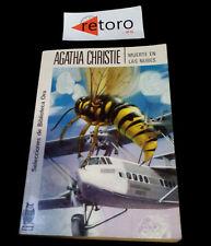 BOOK LIBRO MUERTE EN LAS NUBES Agatha Christie Biblioteca Oro 148 Ed. 1982