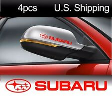 4 SUBARU Stickers Decals Wheels Door Handle Wing Mirror STI WRX Racing RED