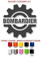 "(#332) 4"" Bombardier ski-doo,Moto-ski,brp,can-am  sticker decal  ( SET OF 3 )"