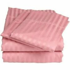 [4-Piece] Bed Sheets 1000 Thread Count 100% Egyptian Cotton Peach Striped