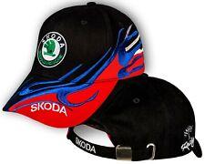 Skoda Black Red Baseball Cap Embroidered Auto Car Logo Hat Mens Womens Gift Idea