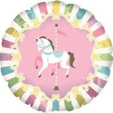 "CAROUSEL HORSE BIRTHDAY PARTY 17""  FOIL BALLOON!"