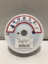 Noble 4414-1C Hook-Up Wire 14 AWG Blue Stranded Copper Primary Wire 50V 100'