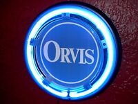 ^Orvis Logo Fly Fishing Rod Reel Trout Bar Man Cave Advertising Neon Wall Sign