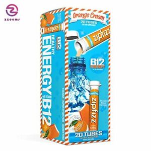 Zipfizz Healthy Energy Drink Mix, Hydration with B12 and Multi Vitamins, Orange