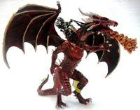 """PLASTOY 60237 """"Drago rosso volante con cavaliere"""" cm. 20x20x17 h fantasy draghi"""