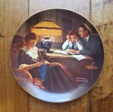 "Knowles Collector Plate 1983 ""Father'S Help"" Norman Rockwell Light Campaign Ge"