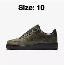 Nike Air Force 1 07 LV8 Trainers Shoes CAMO Black 100% Genuine! SIZE UK 10