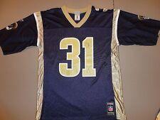 Blue Reebok #31 Adam Archuleta St. Louis Rams NFL Football jersey Adult L NICE