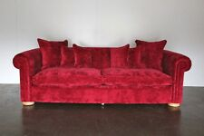 "Elegant Pristine Duresta ""Maximus"" 3-Seat Chesterfield Sofa in Raspberry Red ..."