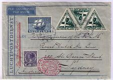 Netherlands 1934 Mac-Robertson Air Race cover from Amsterdam to Sydney