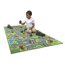 Crawling Game Play Mat Floor Car Activity Road Toddler Baby Kids Rug Carpet Toy