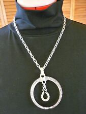 Montana Silversmith horseshoe with CZs  necklace