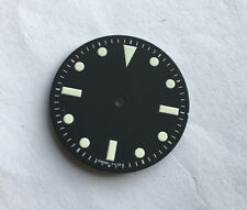 Military Milsub Watch Dial Seiko 7S26 NH35 Movement MOD White 28.5mm LumeT < 25