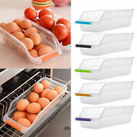 Kitchen Slide Freezer Fridge Space Saver Shelf Holder Storage Box Organizer Rack