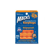 Mack's KIDS SIZE Soft Moldable Silicone Ear Plugs Earplugs ::6 PAIRS:: Swimming