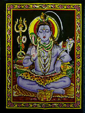 DIEU HINDOU INDIEN Shiva à paillettes Tenture murale commerce équitable PETIT