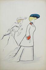 Lithographie originale de Sem, Mlles Deunoy et Marcilly