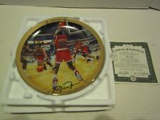 BRADFORD EXCHANGE BASKETBALL PLATE MICHAEL JORDAN UPPER DECK THE SHOT