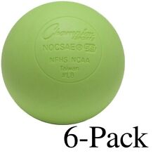 Champion Sports Official Size Rubber Lacrosse Ball, Green (Pack of 6)