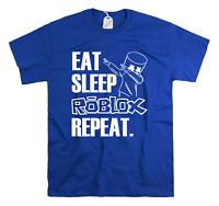 Eat Sleep Roblox Repeat Funny Kids T-shirt Children's Gamer Birthday Top Gift