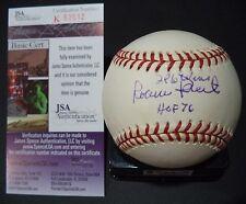 ROBIN ROBERTS 286 WINS HOF 76 AUTOGRAPHED SIGNED N.L. BASEBALL JSA COA #K52612