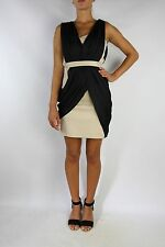 COUNTRY ROAD Cream Layered Black Dress Size 6-8 best fit